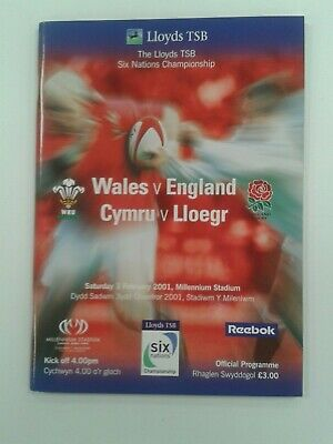 Rugby Union Programme: Wales v England 2001 Excellent condition