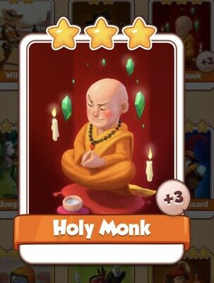 Coin Master Card Holy Monk *Fast Delivery*