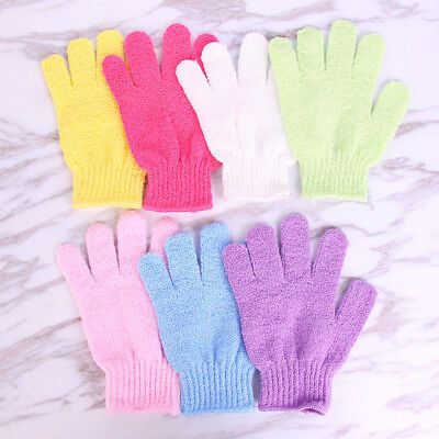 1Pcs Exfoliating Body Scrub Gloves Shower Bath Mitt Loofah Skin Massage SpongZX