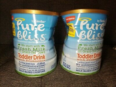2 Pure Bliss by Similac Toddler Drink with Probiotics Formula 31.8oz Exp 02/21