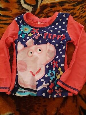 Lovely Girls George Peppa Pig Swimming Top Age 18-24 Months