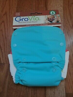 GroVia HTF Cheery AIO NIP Cloth Diaper Organic Cotton