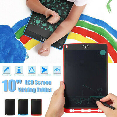 10'' LCD Writing Tablet Electronic Painting Drawing Children Mini Kids Pad