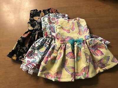Lot Of 3 Handmade Dresses fits 18inch American Girl Doll Clothes