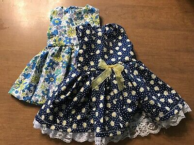 Lot Of 2 Handmade Dresses fits 18inch American Girl Doll Clothes