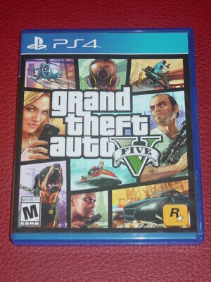 Grand Theft Auto V ( Sony PlayStation 4 )  Disc, Booklet, Map, Case/Cover