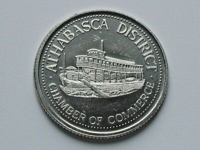 Athabasca CANADA 1984 Trade DOLLAR Token with HBC Steamship & University Opening