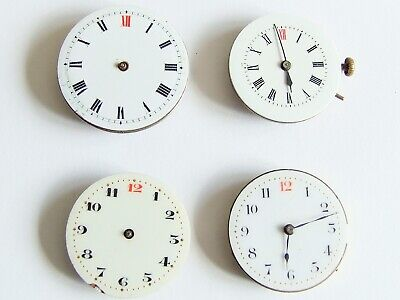 Four vintage trench watch movements for spares, repair, steampunk