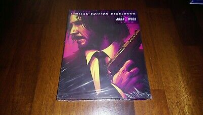 John Wick Chapter 3 PARABELLUM Target STEELBOOK limited edition blu ray dvd