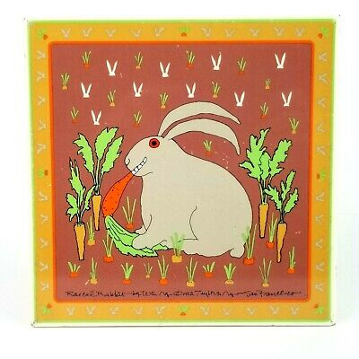 Taylor & Ng Rascal Rabbit Tile Trivet Dated 1982 San Francisco Made in Italy