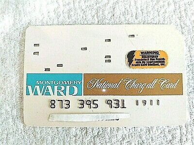 MONTGOMERY WARD National Charge All Card Credit (1960's)  Unsigned~ No Dates