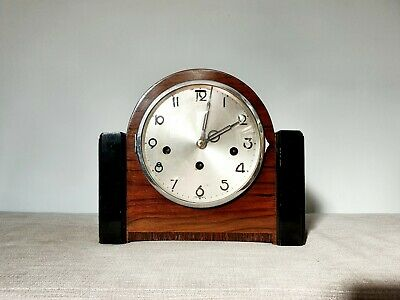 Art Deco Mantle Clock Westminster Chimes Vintage Mantel Clock 8 Day Pendulum