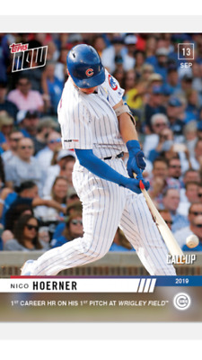 2019 TOPPS NOW ROOKIE CALL-UP CARD CHICAGO CUBS NICO HOERNER #838 1st CAREER HR