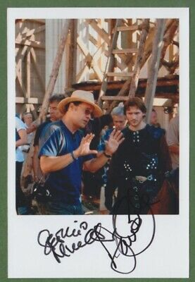DAVID OAKES and SERGIO MIMICA-GEZZAN in person signed glossy PHOTO 13 x 19 cm