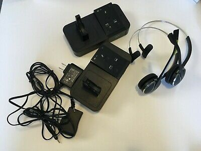 Jabra Pro 9450 2x Headset, Base, and Power Supply Combos - Excellent Condition