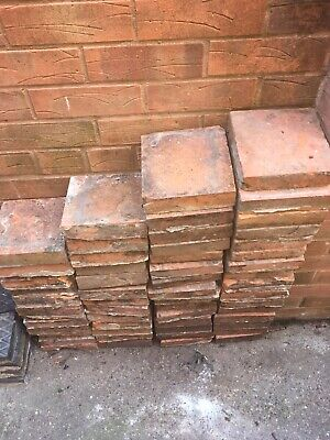 "Reclaimed Quarry Tiles 6 3/4"" Square Tiles 1.5"" Thick"
