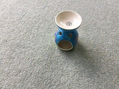 Hand painted Stoneware Essential Oil Burner And Tealight Holder