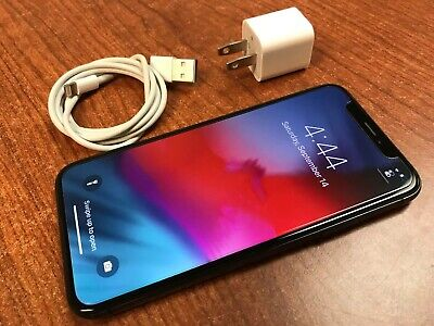  Excellent  Apple iPhone X 256GB Gray AT&T ATT or Cricket  Ships fast