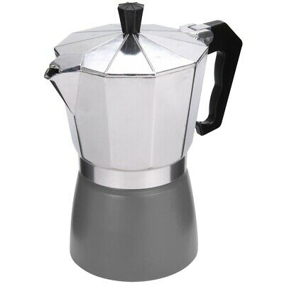 Promobo - Cafetiere Italienne 6 Tasses Expresso 800ml Inox Design Luxe Gris