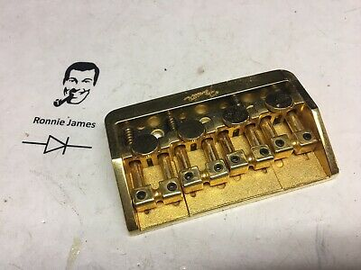 80's Fender Elite Locking Schaller Electric Bass Guitar Bridge Gold Germany