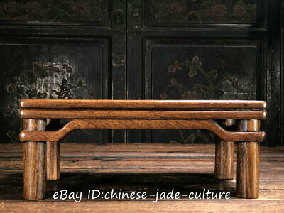 """12"""" China Antique Huanghuali Wood Classical Furniture Dining Center Tea Table T"""