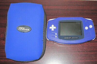 Nintendo Game Boy Advance Indigo GBA System w Case NO SCRATCHES on Screen