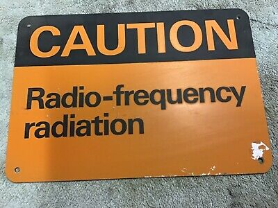 Telecom painted and screened sign steel  radiation warning