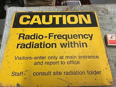 Telecom painted and screened sign steel  radiation within warning