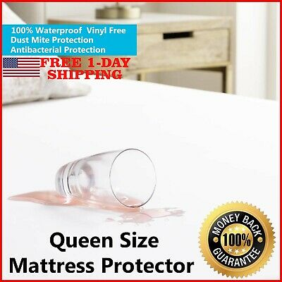 Mattress Cover Protector Waterproof Pad Queen Size Bed Cover Hypoallergenic Pad