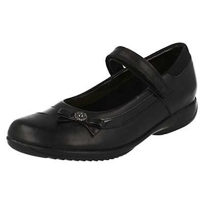 Clarks Girls School Shoes Black leather. Size UK 3-3.5