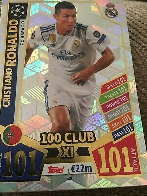 Cristiano Ronaldo Match Attax UEFA CHAMPIONS LEAGUE 2017/18 100 Club No428