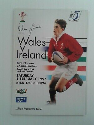Wales v Ireland Five Nations Rugby Union Programme 1997 Cardiff Arms Park