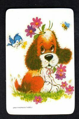 Vintage Swap  Card - Cute Puppy (BLANK BACK)