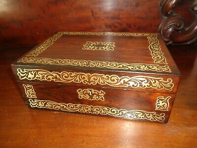 Regency Sewing Box with inlaid brass decoration circa 1825