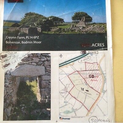CORNWALL Poldark Dwelling+ 50 acreas on bodmin moor stunning Rare!more Land Avai