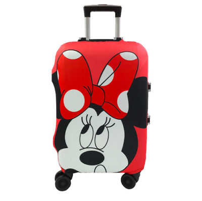 Cute Minnie Mickey Travel Case Protective Cover Luggage Suitcase Skin Dust Proof
