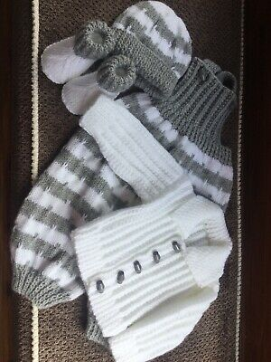 Boys Hand Knitted Set 0/3 Months