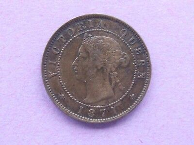 Victoria / Canada Prince Edward Island One Cent Coin 1871 , Scarce