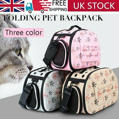 Portable Pet Carrier Folding Cage Dog Cat Puppy Travel Crate Bag Soft Kennel Box