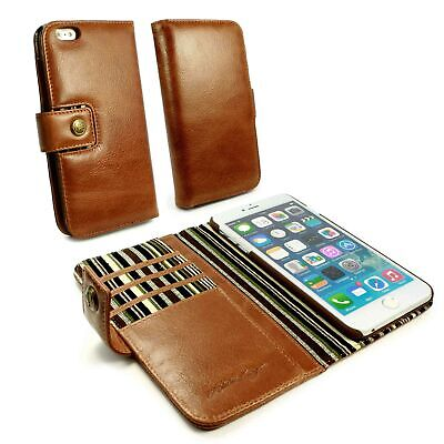 Alston Craig Personalised Leather Wallet Case for iPhone 6 Plus / 6s Plus -Brown