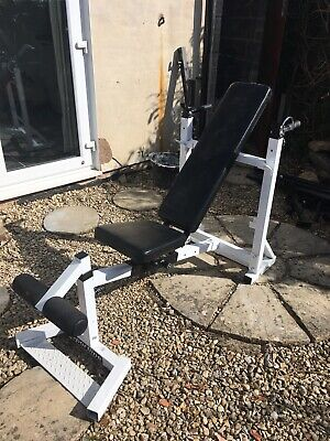 Folding Sit up Bench Barbell Weight DIP Station Lifting Chest Press Adjustable