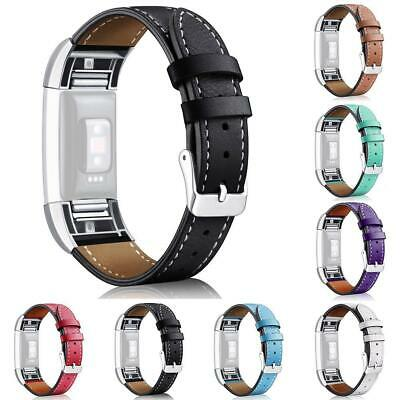 Leather Replacement Band Bracelet Strap WatchBand For Fitbit Charge 2 Top
