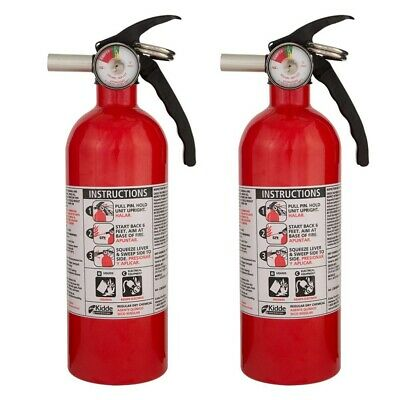 Kidde 5-B:C Rated Disposable Fire Extinguisher Liquids Gases Electrical 2-pack