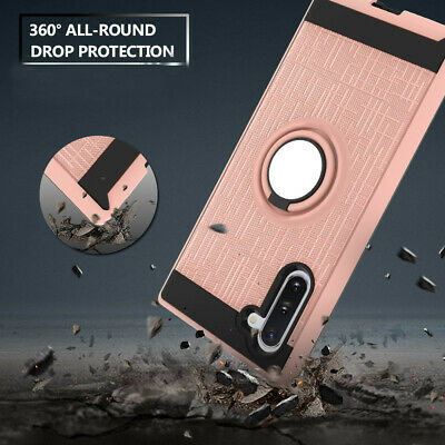 For Samsung Galaxy Note10 Plus/10 Hybrid Shockproof Ring Stand Armor Case Cover