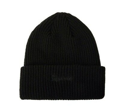 Supreme Loose Gauge Beanie FW19 Black- 100% ORIGINAL
