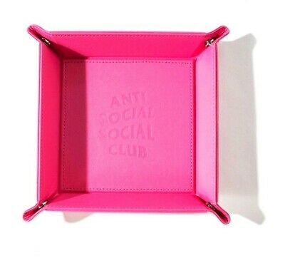 ASSC - Anti Social Social Club Leather Pink Tray- 100% ORIGINAL