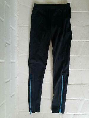 ZARA TEREZ Girls Black Legging blue zipper pant Back Medium 8 10 Designer