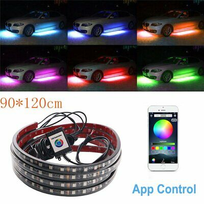 120X90CM LED Unterbodenbeleuchtung Atmosphare Neon Lampe App Musik Control Kit