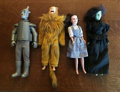 The Wizard of Oz Doll Collection / Mixed Lot of 4 Dolls Vintage 1980's set dolls