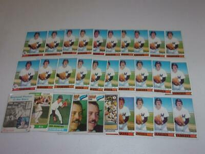 1973-1979 Topps lot of 30 CATFISH JIM HUNTER cards! YANKEES! MUST SEE! BV$$$
